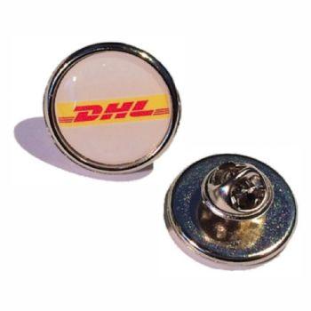 20mm premium quality silver pin badge